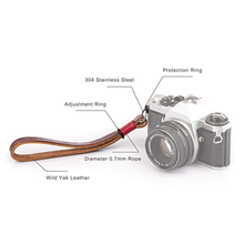 Camera Wrist Strap Yak Leather Hand Wrist Strap for Canon Nikon Pentax Olympus SLR DSLR Digital Mirrorless Cameras
