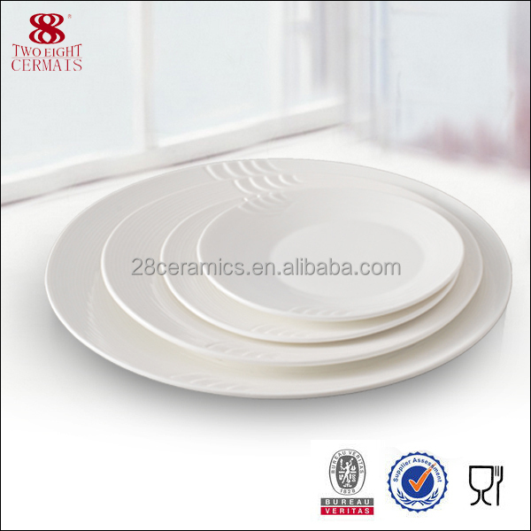 wholesale bone china tableware round plate ceramic hotel supplies factory