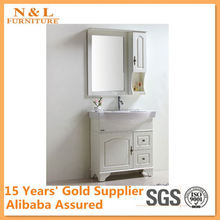 Dark emperador marble bathroom vanity
