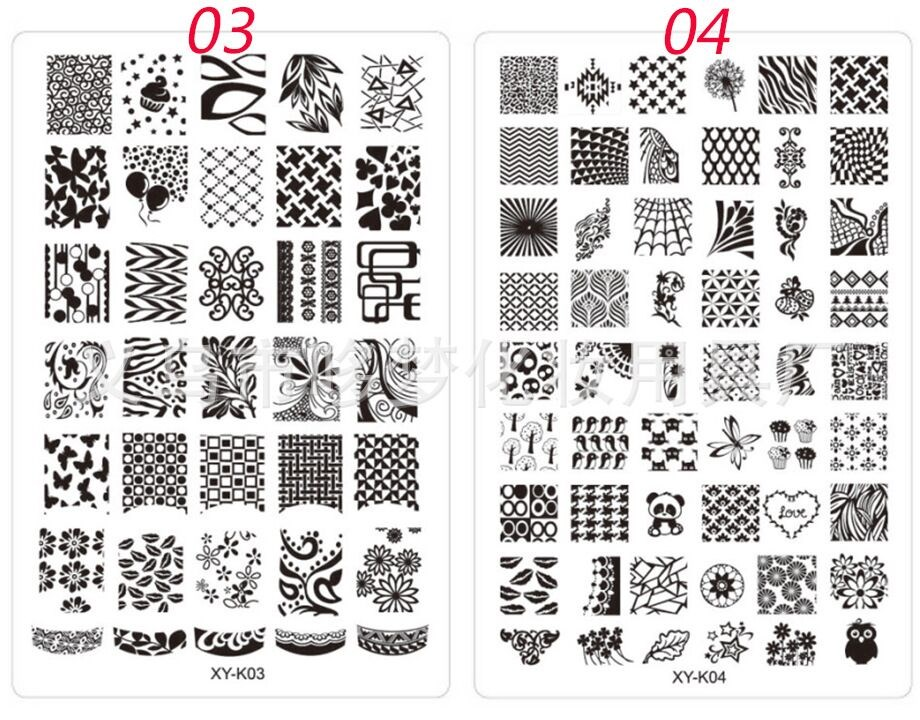 30 Designs Nail Stamping Plates Different Color Nail Art Stamping ...