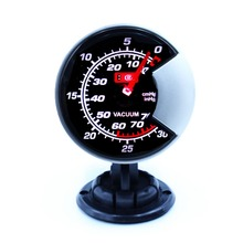 60mm LED Vacuum Gauge High Quality Auto Car Motor Gauge with Red & White Light