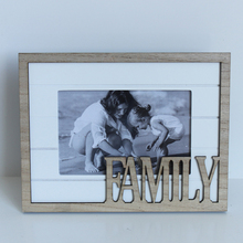 beaded, natural and decorative wall-hung type wooden photo frame