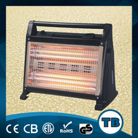 Energy Efficient vertical quartz heater with Safety Switch