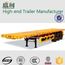 3 axle 40feet 12500mm flatbed container semi trailer,trailer container,trailer chassis for sale