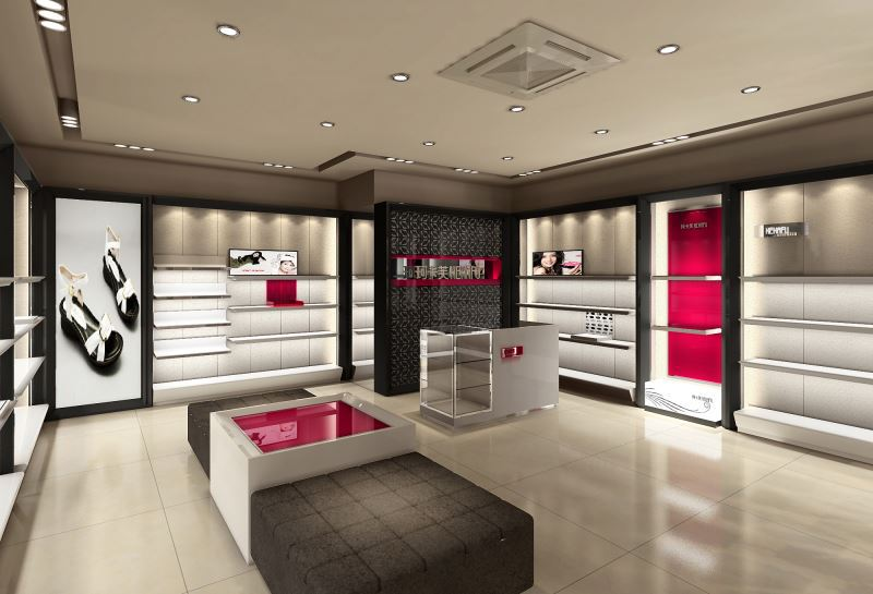 beautiful Solid Wood shoe shop fitting display equipment for shoes