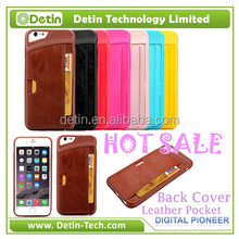 Simple wallet cell phone case For iphone genuine leather case For iphone 6 case genuine leather stitch on TPU back cover