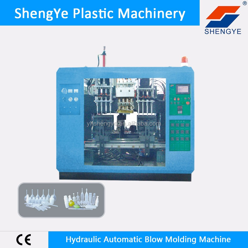ShengYe blow molding machine SYJII-A-55-4 extruder hydraulic system automatic blow moulding machine price with CE