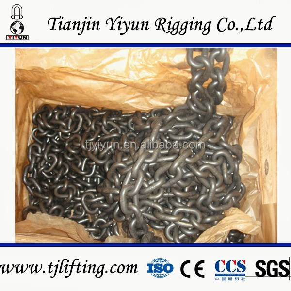 EN818-2 6mm black alloy steel grade 80 lifting <strong>chain</strong> manufacturers