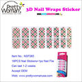 Fashion 3D Nail Sticker Japan Nail Art 16pcs Nail Decal Stickers Manufacturer