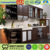 Black modern mould kitchen designs for dubai made in foshan guangzhou