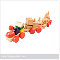 Wooden vehicle set like truck,car and ship