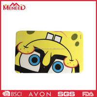 Wholesale kindergarden children use cartoon decal yellow square melamine carving board