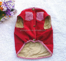 Autumn and Winter Pet Clothing/Small Red Vest Pocket Dog Clothes/Wholesale Pet Clothes