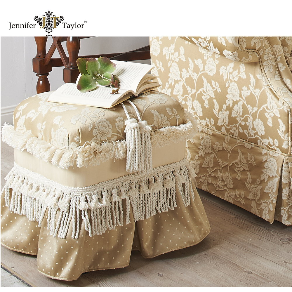 Antique seats for bedroom ottoman pouf/wholesale fabric furniture wholesale fabric ottoman