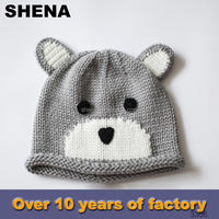 hot sale knitting fashion felt baby hat sex image factory china