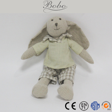 Fine Linen Cloth Bunny with Long Ears Kids Toys