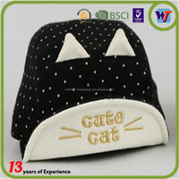 Cute cat with ear lovely kids baseball hat 1 years baby baseball cap