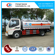 JAC mini fuel bowser of 4.2CBM, fuel tanker truck capacity, chemical tanker truck malaysia