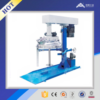 Vacuum Closed type high speed Dispersion machine with wall scraper (Hydraulic Lifting)