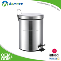 2016 Hot selling stainless steel metal pedal dust bin with competive price