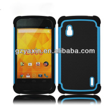 Design mobile phone case for lg nexus 4,hot selling nexus 4 shockproof case,manufacturer in guangzhou