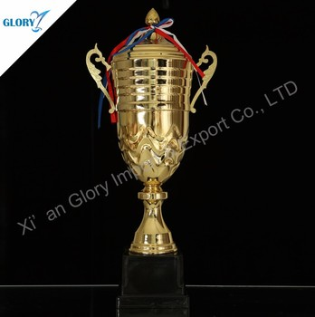 Big Golden Metal Trophy Cup for Sport Gift