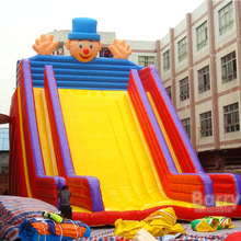 Cheap Price Commercial Red Giant Inflatable slide With Safety Net