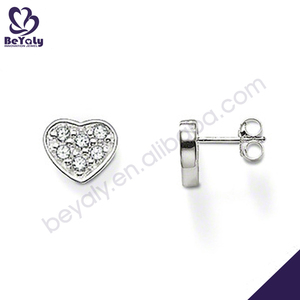 wholesale alibaba costume jewelry small stud heart earring