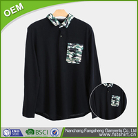Free sample collar new embroidery design mens polo shirt