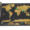 Black Scratch World Map Stock Unable