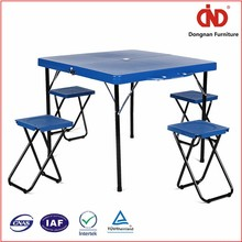 100% test china factory hot sales plastic small folding camping table