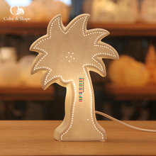 Low MOQ Handmade Ceramic Coconut Tree Table Lamps