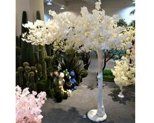 Outdoor lighted Artificial flower Cherry Blossom Tree plants,White Indoor led Wedding artificial cherry plants and trees
