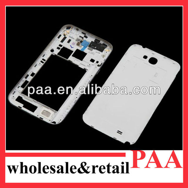 Back Cover Housing and Middle Plate for Samsung Galaxy Note II N7100 White