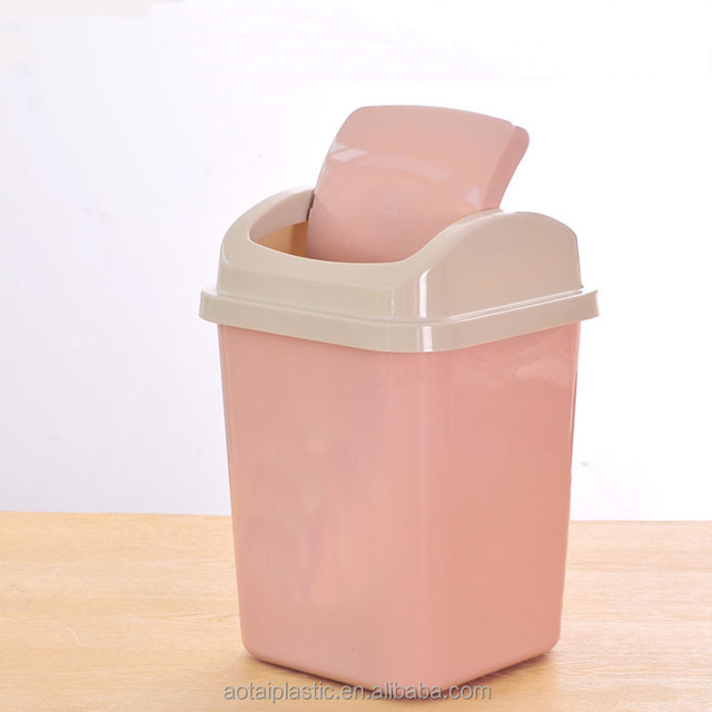 cheap plastic trash bin plastic rubbish bin with swing lid