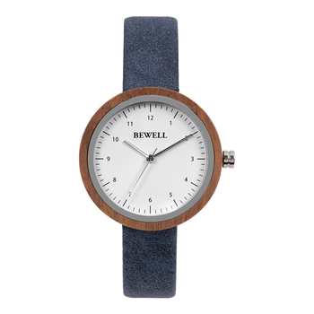 Trade Assurance Order Wooden Watch Vegan Leather Watches for Women