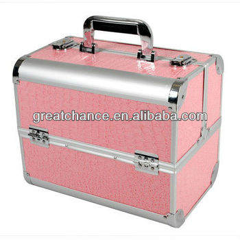 Professional Pretty Pink Beauty Box Aluminium Beauty Cosmetics & Make Up Case