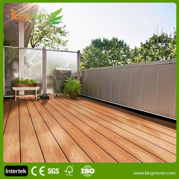 Best sale hollow tongue and groove composite decking solid cheap composite decking balcony for Exterior wood decking materials
