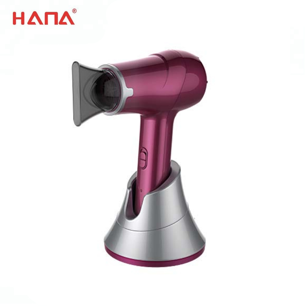 300W Hot selling optional features spray/rubber rechargeable cordless wireless hair dryer