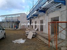 steel frame prefab house modern rock wool modular house