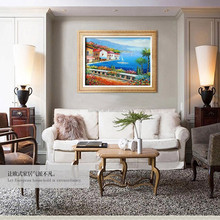 Cheapest Price High Quality Handmade Living Room Wall Landscape Paintings Europe Mediterranean Oil Painting On Canvas