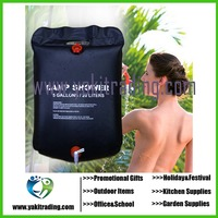 Outdoor Camping Hiking Solar Energy Heated Camp Shower Pipe Bag Portable 20L