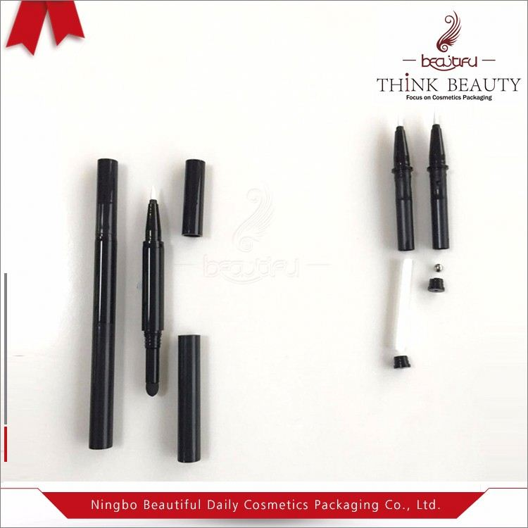 2017 hot sale waterproof liquid eyebrow pencil empty packaging for make up pencil