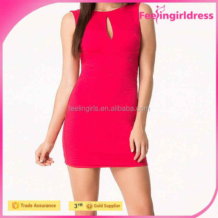Red Sleeveless Club Cheap Wholesale Sexy Nighty Dress Picture