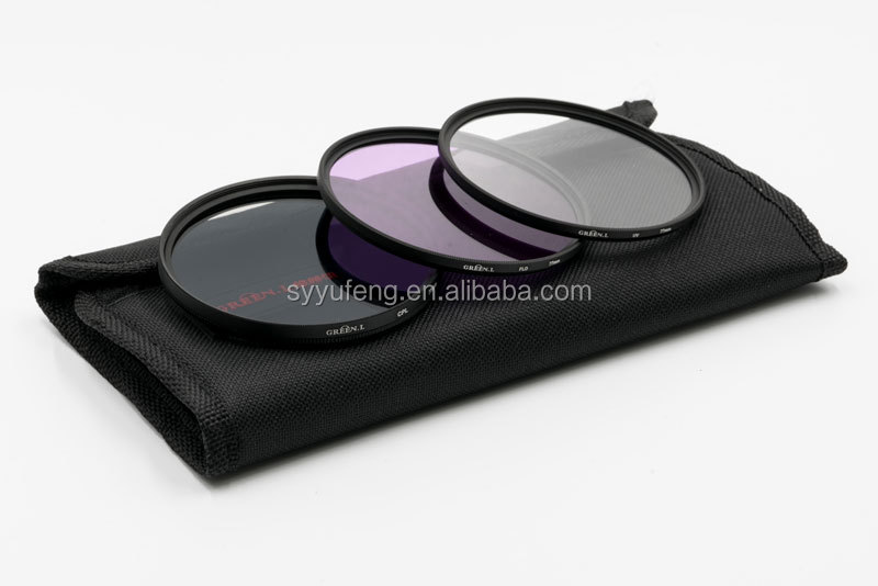 Green.L UV+FLD+ CPL Lens Filters camera filter kit for Canon Nikon Pentax Olympus Sigma Tamron camera