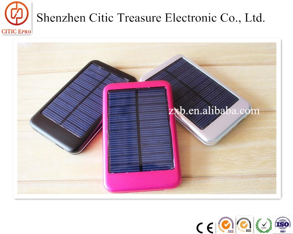 Factory Price Portable Solar Power Bank10000mah With Led Light Solar Charger Solar Charger