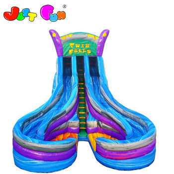 commercial big twins pool inflatable water slide for sale
