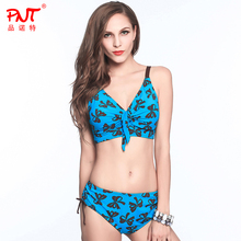 2016 new factory outlet plus size,waist on both sides can be apart,mature woman biqiuni Butterfly,gathered the chest bikini