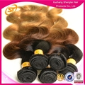 Top Quality Peruvian Colored Two Tone Hair, Colored Three Tone Hair Weave