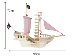 wooden large assembly class pirate ship toy educational toys